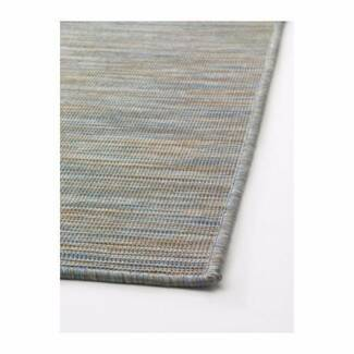 200cm x 300cm Indoor/Outdoor Flatwoven Rug in grey/blue