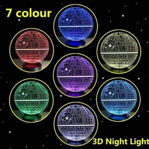 Star Wars 3D color changing lamp 100% NEW