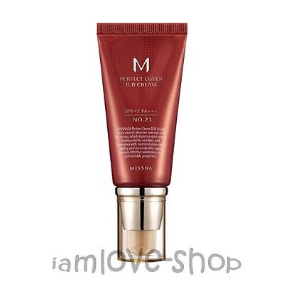[Missha] M Perfect Cover BB Cream 50ml # 23 SPF42 PA+++ 3 Free Samples Blemish