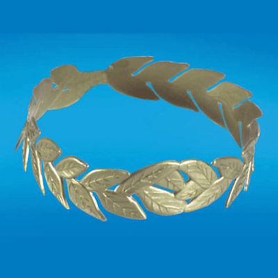 Gold Laurel Leaf Wreath Headband Toga Party Greek Grecian Leaves Roman Head Band](Roman Headband)