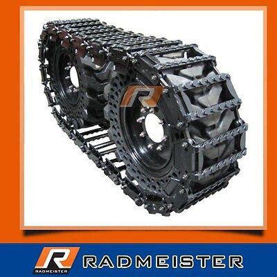 Over The Tire Skid Steer Steel Tracks 12 For Bobcat 843 853 863 873