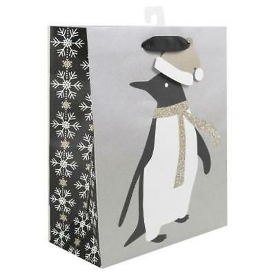 Penguin Holiday Christmas Non-Denominational Gift Bag Small - (Pack of 4) ()