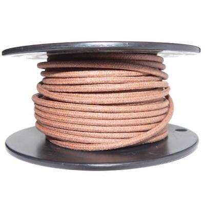 1M Algodón Trenzado Eléctrico Del Automóvil Cable 16 Calibre Marrón