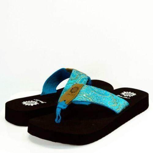 Yellow Box Flip Flops Blue Ebay
