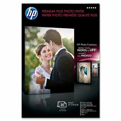 "New HP Premium Plus Starndard Glossy Photo Paper  4"" x 6'' Q1977A 20 Sheets"