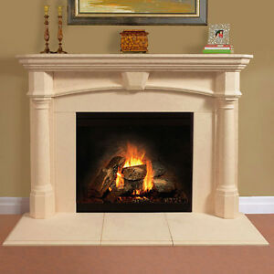 Fireplace mantel mantle surround shelf cast stone non for Fireplace no mantle