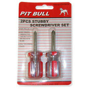 new 2pc mini stubby phillips screwdriver set chis610 us fast free shipping. Black Bedroom Furniture Sets. Home Design Ideas