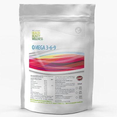 500 Kapseln OMEGA 3+6+9 á 1000mg Fettsäuren FISCH-ÖL XL PACK 369 - EPA DHA 369 - Omega 3 Dha Kapseln