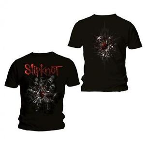 Slipknot-Shattered-Official-Mens-Black-T-Shirt-New-All-Sizes
