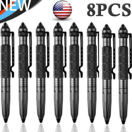 "4/8Pcs 6""Aluminum Tactical Glass Breaker Outdoor Pens Writin"