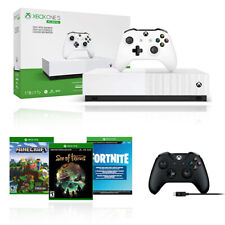 Xbox One S 1TB All Digital Edition + Extra Wireless Controller w/ Cable Included
