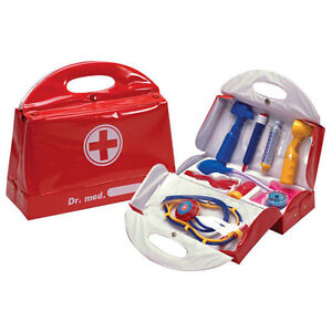 Childs Kids Medical Kit Doctors Nurses Case Large Role Play Dress up Set Toy