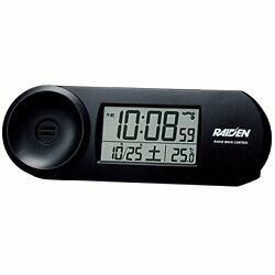SEIKO CLOCK RAIDEN large volume digital radio alarm clock ( black ) NR532K