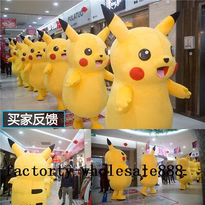 Pikachu Mascot Costume (2019 Cute Pikachu Adults  Halloween Mascot Costume Party Pokemon Go Cosplay)