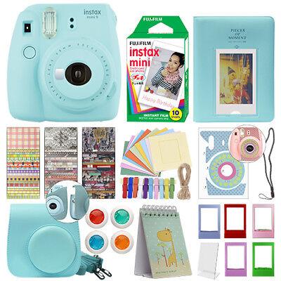 Fuji Instax Mini 9 Fujifilm Instant Camera All Colors  10 Film Deluxe Bundle