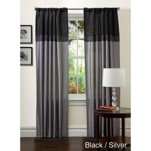 Black Gray Curtains Ebay