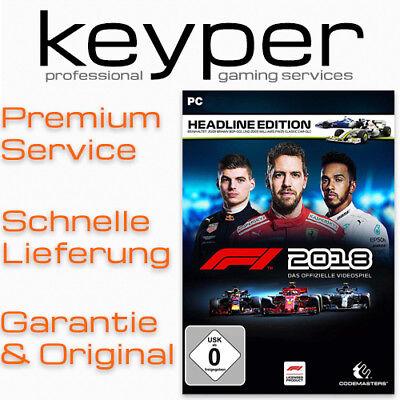 F1 2018 Headline Edition [Deutsch/Multi10] [Steam Key Code] PC Neu & Original