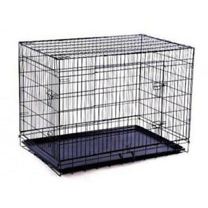 SALE @ WWW.BETEL.CA || 2-Door Large Folding Portable Dog Crate w/ Pan || FREE Delivery!!