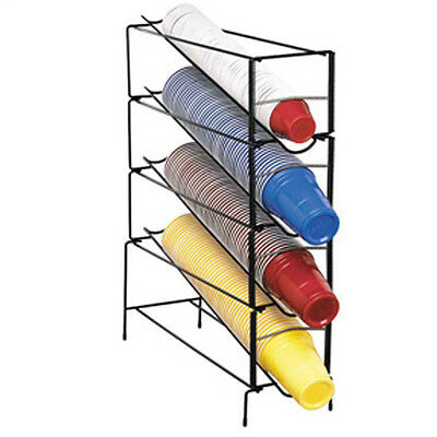 Dispense-rite Wr-ct-4 Adjustable Disposable Cup Dispenser Wire Rack Free Lid