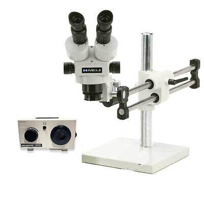O.c. White Tkmz-d Meiji Stereo-zoom Binocular Microscope W Dual Light