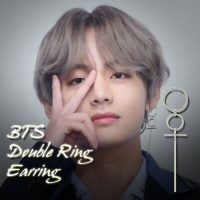 BTS BangTanBoys V Double Ring Earring Kpop Style Hot Item Made In Korea 1Piece