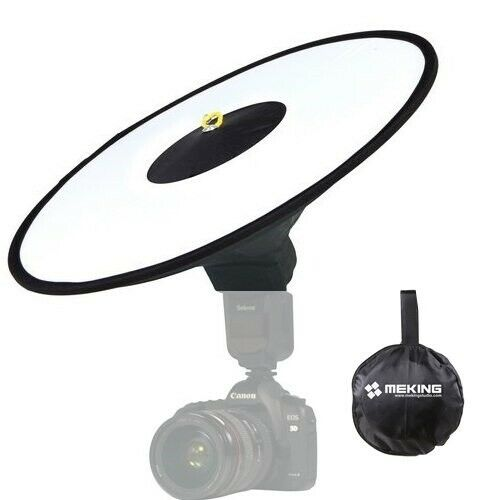 RoundFlash Beauty Dish Collapsible Softbox to fit External Camera Hot Shoe Flash