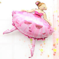 Large Size Party balloons Ballet Dancing Girl Foil Balloons
