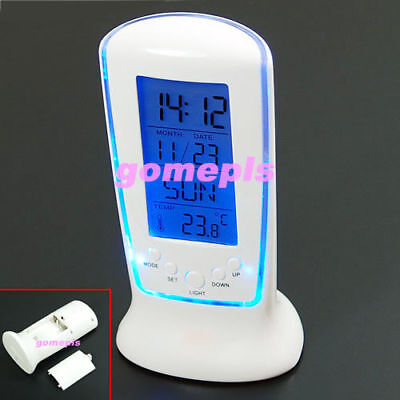 Digital LCD Alarm Clock Calendar Thermometer Backlight Home Essential