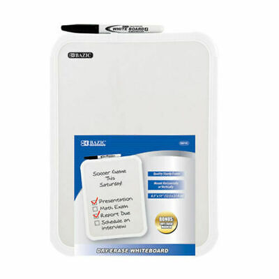 Whiteboard 8.5 X 11 Small Dry Erase White Board With Marker Note Class Student