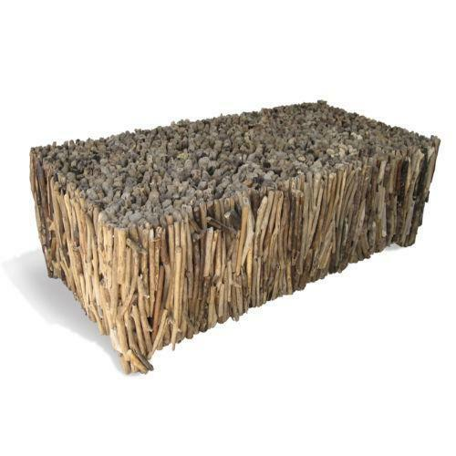 40 Square Driftwood Coffee Table: Driftwood Furniture