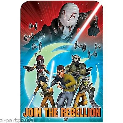STAR WARS Rebels INVITATIONS (8) ~ Birthday Party Supplies Stationery Cards Note Star Wars Birthday Invitations