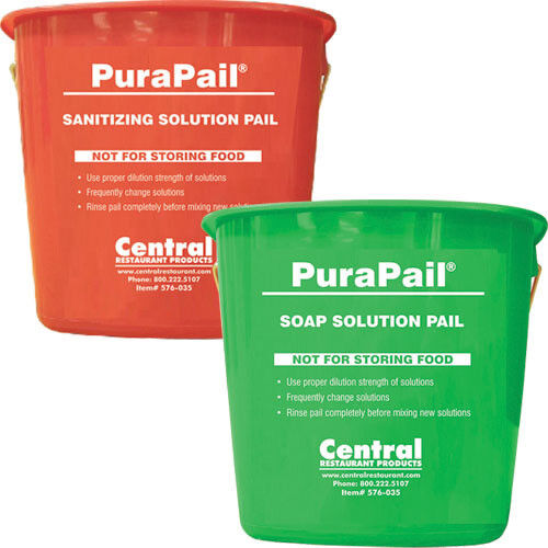 Central Exclusive 5506-14-951 HACCP Utility Pail - 6 Qt. Capacity, Green