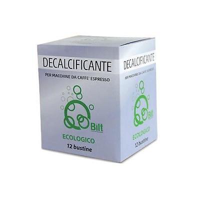 12 BUSTINE DECALCIFICANTE PER MACCHINE DA CAFFE BILT ECOLOGICO BREAK SHOP