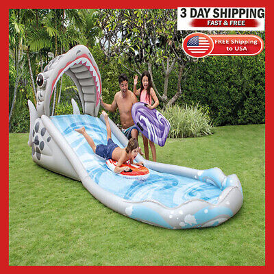 Banzai Kids Inflatable Outdoor Surf Rider Aqua Lagoon Water Park Slide Pool Inte Lagoon Water Park