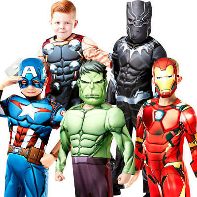Deluxe Avengers Infinity War Boys Fancy Dress Superhero Kids Halloween Costumes (Kids Superhero Halloween Costumes)