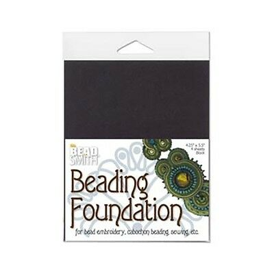 Beadsmith Beading Foundation Bead Embroidery Black 43462 (4 pack) 4.25x5.5in