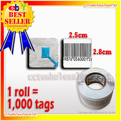 1000 Pcs Checkpoint Compatible Mini Soft Label Tag Roll 8.2mhz