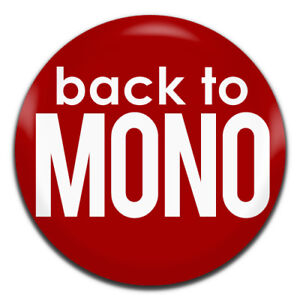 Back To Mono Record Collector 25mm / 1 Inch D Pin Button Badge