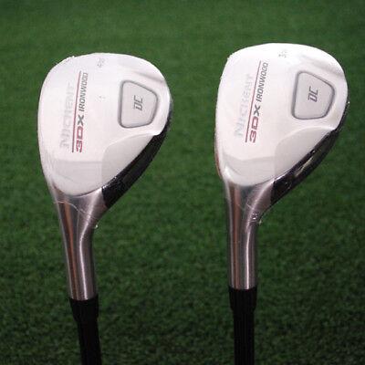 Nickent Golf 3DX DC Ironwood Hybrids 2pc SET 3h&4h LEFT HAND Regular Flex - NEW - Nickent Golf 3dx