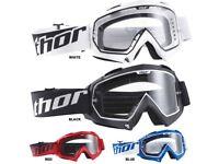 New Kids Youth Thor Enemy Goggles Motocross Enduro Quad Downhill BMX