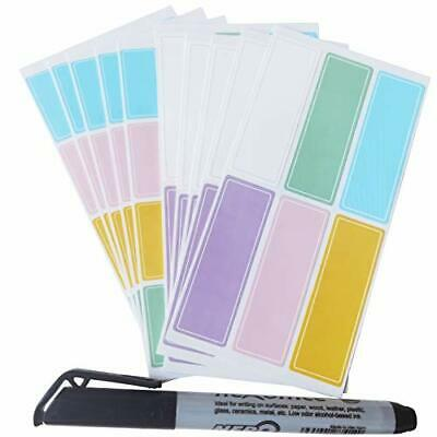 Assorted Colors Waterproof Removable Labels - 170pcs With Pen Daycare Bottles