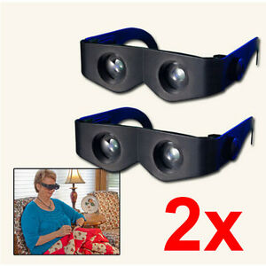 2x-Black-Zoomable-Hands-Free-Binoculars-400-Magnification-Glasses