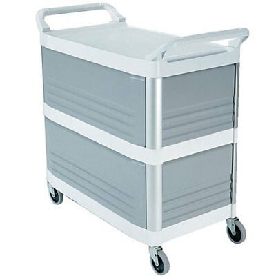 Rubbermaid Fg409300owht Utility Cart - Plastic Enclosed On 3 Sides Black