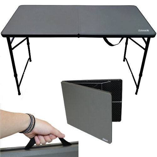COLEMAN 4ft FOLD IN HALF TABLE PICNIC CAMPING CAMP