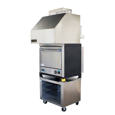 Naks Single Deck Pizza Oven W Ventless Hood 30 1ph - Fire Suppression Included