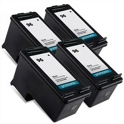 4pk HP 96 C8767WN black ink cartridge