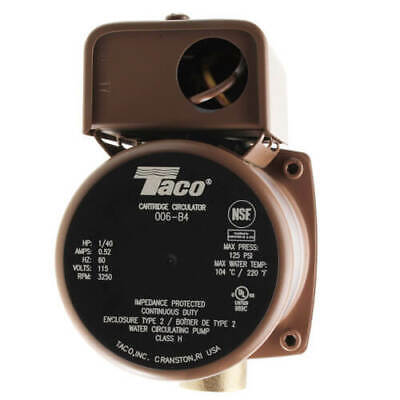 Brand New Taco 006-b4 34 Sweat Bronze Circulator Pump 140 Hp