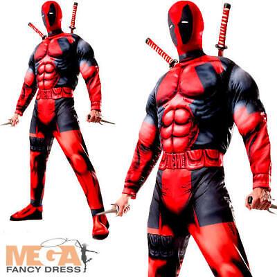 Deluxe Deadpool Mens Fancy Dress Marvel Comic Superhero - Anti Hero Kostüm
