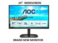 NEW 75hz FHD Monitor Speakers HDMI/VGA/ DVI