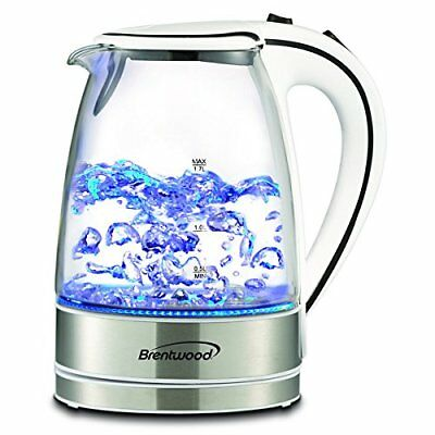 Zbrand New Brentwood 1 7 Liter Kt 1900W Royal Glass Electric Tea Kettle  White